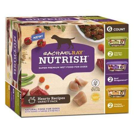 Rachael Ray Nutrish Natural Hearty Recipes Variety Pack Wet Dog Food, 8 oz., Pack of 6