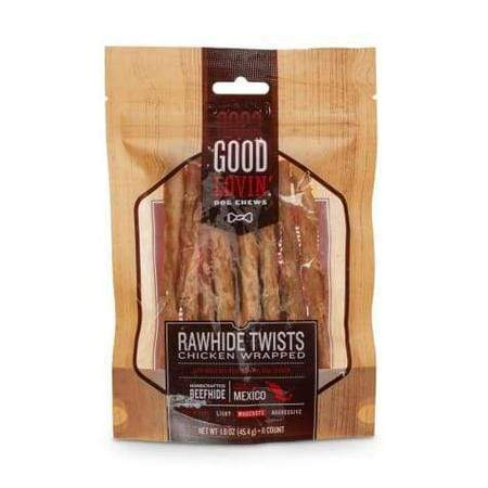 Good Lovin' Chicken Wrapped Rawhide Twist Dog Chews, Pack of 11