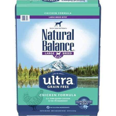 Natural Balance Original Ultra Grain Free Large Breed Bites Chicken Dry Dog Food, 24 lbs.