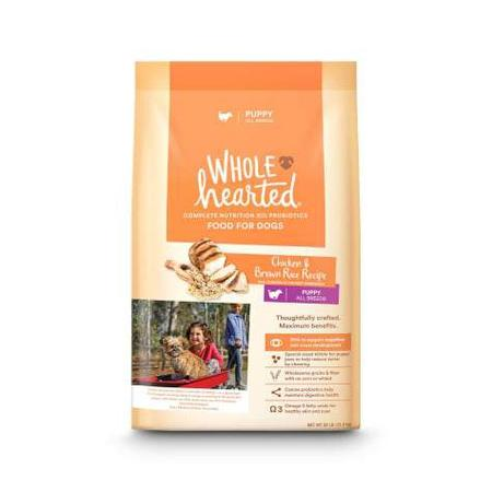 WholeHearted All Breed Chicken and Brown Rice Recipe Dry Puppy Food, 30 lbs.