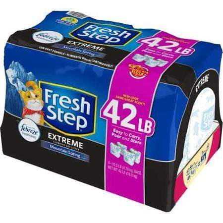 Fresh Step Extreme Scented Power of Febreze Mountain Spring Clumping Cat Litter, 42 lbs.