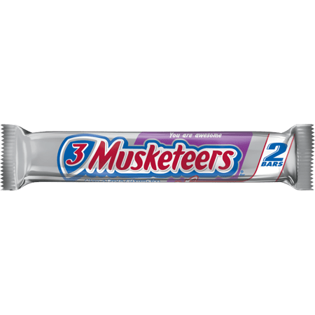 3 Musketeers, Sharing Size Chocolate Candy Bar, 3.28-Oz