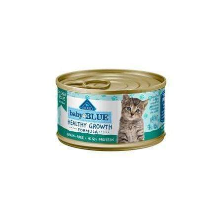 Blue Buffalo Baby Blue Healthy Growth Formula Natural Grain Free Chicken Recipe Kitten Pate Wet Food, 3 oz., Case of 24