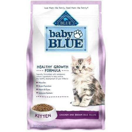 Blue Buffalo Baby Blue Healthy Growth Formula Natural Chicken and Brown Rice Recipe Kitten Dry Food, 5 lbs.