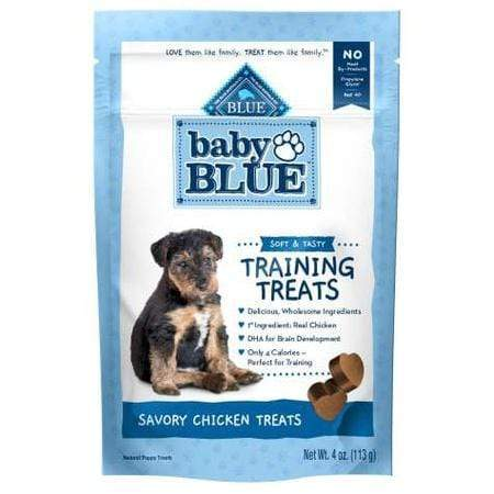 Blue Buffalo Baby Blue Natural Soft Training Savory Chicken Puppy Treats, 4 oz.