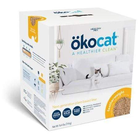 Okocat Unscented Featherwieght Clumping Wood Cat Litter, 16.4 lbs.