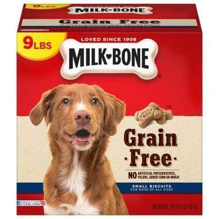 Milk-Bone Grain Free Dog Biscuits, 9 lbs.