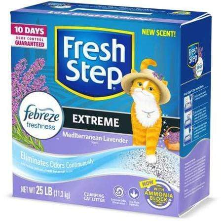 Fresh Step Extreme Odor Control Mediterranean Lavender Scent Cat Litter, 25 lbs.