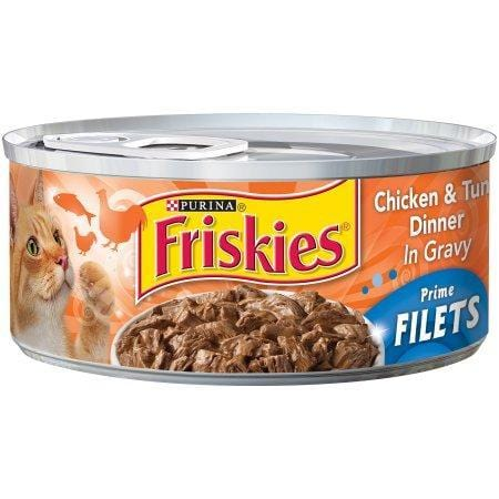 Friskies Gravy Wet Cat Food, Prime Filets With Beef in Gravy, 5.5 oz. Can