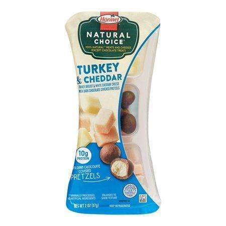 Hormel Natural Choice Oven-Roasted Turkey Breast & White Cheddar Cheese with Dark Chocolate Pretzels, 2 Oz.