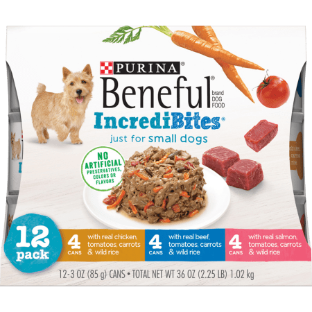 Purina Beneful Small Breed Wet Dog Food Varietypk, Incredibites, 3-Oz. Cans