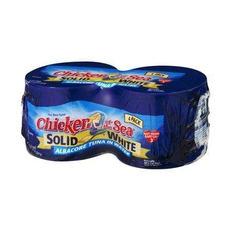 (4 Cans) Chicken of the Sea Solid Albacore Tuna in Water, 5 oz