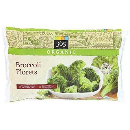 365 Everyday Value, Organic Broccoli Florets, 16 oz, (Frozen)