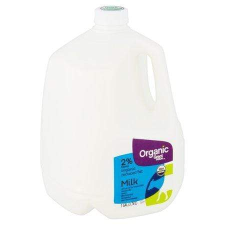 Great Value Organic Reduced Fat Milk, 1 gal
