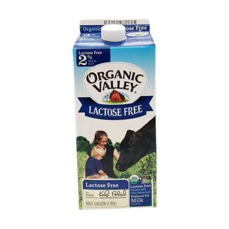 Whole Foods Organic Reduced Fat Lactose Free Milk, 0.5 gal