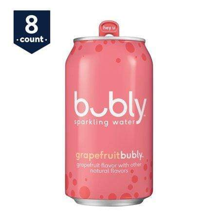 bubly Grape Fruit Sparkling Water, 12 Fl. Oz., 8 Count
