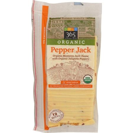 365 Everyday Value, Pepper Jack Organic Sliced, 12 Ounce