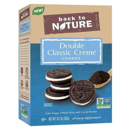 Back To Nature, Double Classic Crème Cookies, 10.7 Ounce