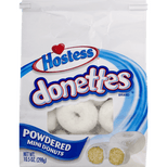 Hostess Donettes Mini Donuts, Powedered, 10.5 Oz