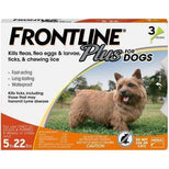 FRONTLINE Plus for Dogs Small Dog (5-22 lbs) Flea and Tick Treatment, 3 Doses