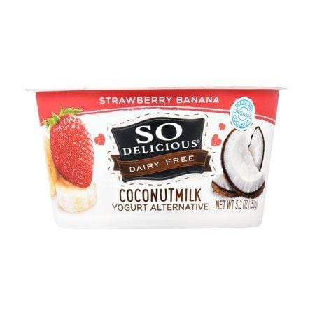So Delicious Dairy Free Strawberry Banana Coconutmilk Yogurt, 5.3 Oz.