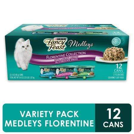 (12Pk) Fancy Feast Gravy Wet Cat Food Varietypk, Medleys Florentine Collection, 3-Oz. Cans