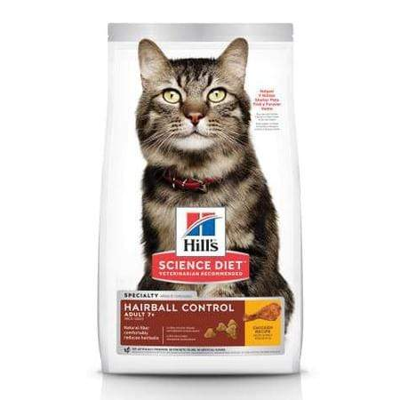 Hill's Science DietAdult 7+ Hairball Control Chicken Recipe Dry Cat Food, 3.5 lbs.
