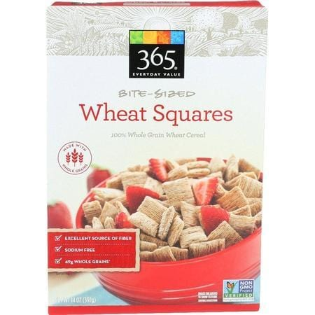 365 Everyday Value, Bite Sized Wheat Squares, 14 oz