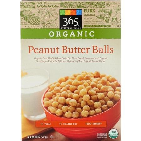365 Everyday Value, Cereal Peanut Butter Balls Organic, 10 Ounce