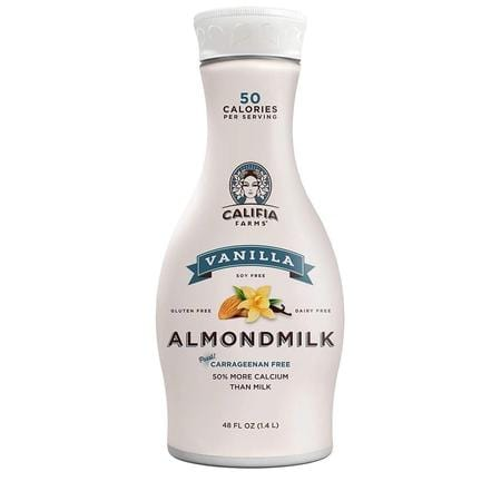Califia Farms Almondmilk, Dairy Free, Plant Milk, Vegan, Non-GMO, Vanilla, 48 Oz