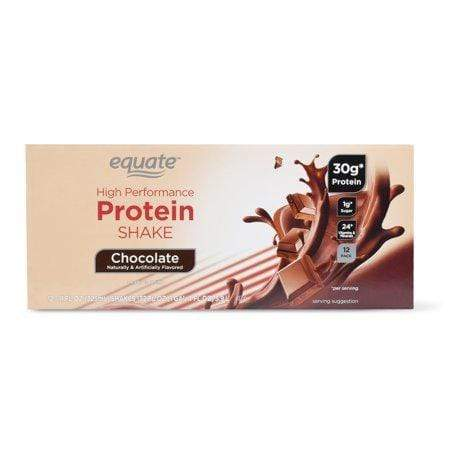 Equate High Performance Protein Shake, Chocolate, 30G Protein, 11-Oz, 12 Ct