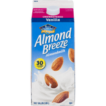 Blue Diamond Almond Breeze Unsweetened Vanilla Almond Milk, Half Gallon