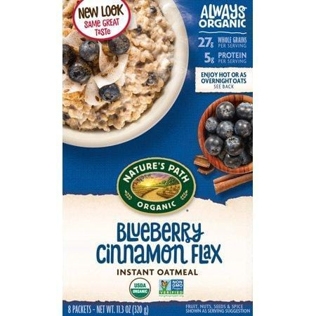 Nature's Path Hot Oatmeal, Optimum Power Blueberry Cinnamon Flax, 8 packets