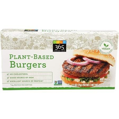 365 Everyday Value Plant-Based Burgers, 10 oz