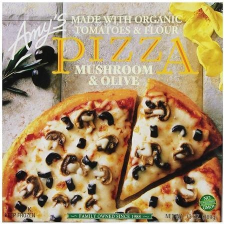 Amy's Pizzas, Mushroom & Olive Pizza, 13.0 Ounce (Frozen)