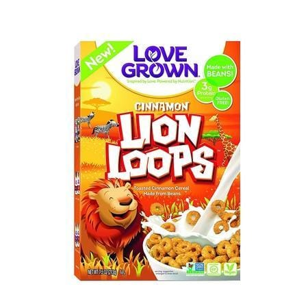 Love Grown Lion Loops Cereal, 7.5 oz. Box