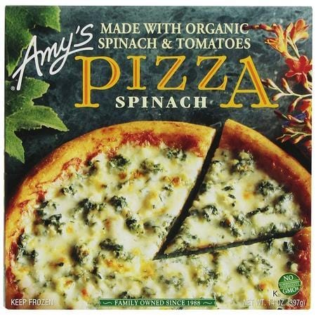 Amy's Pizzas, Spinach Pizza, 14.0 Ounce (Frozen)