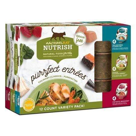 (12Pk) Rachael Ray Nutrish Purrfect Entrees Grain Free Natural Wet Cat Food Varietypk, 2-Oz Tubs