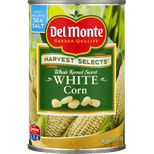 Del Monte Harvest Selects Whole Kernel Sweet White Corn, 15.25 Oz