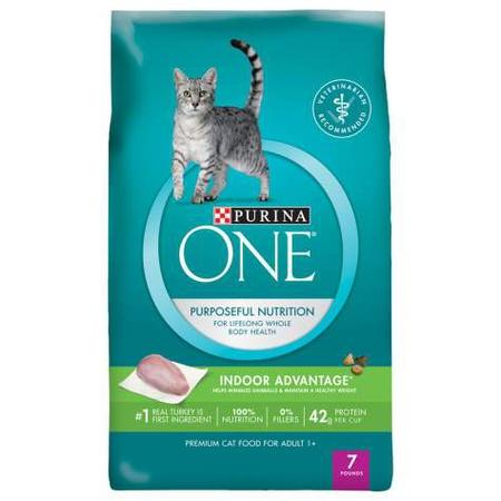 Purina ONE Indoor Advantage Hairball & Healthy Weight Cat Food, 7 lbs.