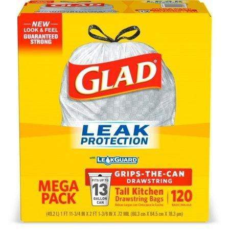 Glad Tall Kitchen Trash Bags, 13 Gallon, 120 Bags