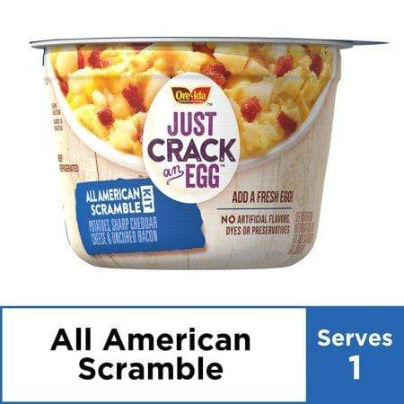 Ore-Ida Just Crack an Egg All American Scramble Kit Breakfast Bowls, 3 oz Cup