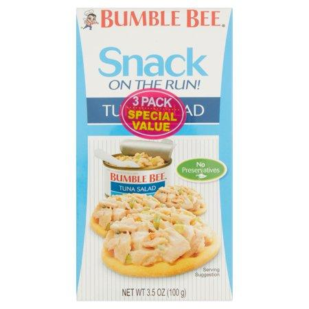 Bumble Bee Snack on the Run! Tuna Salad with Crackers, 3 pack - EasyBins, Grocery - food