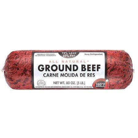 73% Lean/27% Fat, Ground Beef Roll, 5 lb
