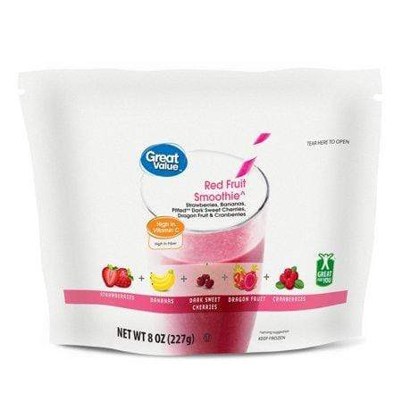 Great Value Red Fruit & Vegetable Smoothie, 8 oz