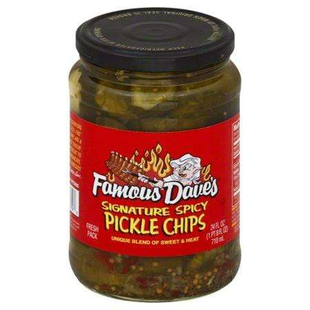 Famous Dave'S Signature Spicy Pickle Chips 24 Fl.-Oz. Jar