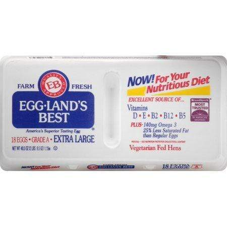 Egg-Land's Best Farm Fresh Extra Large White Grade AA Eggs, 18 Count