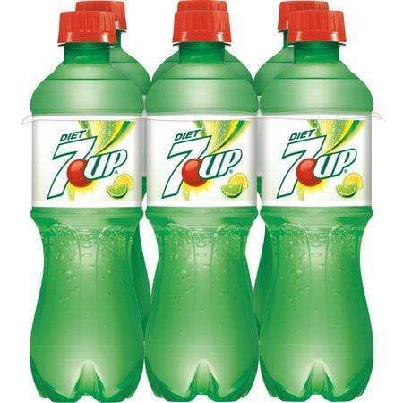 7Up Diet Caffeine-Free Lemon Lime Flavored Soda, 0.5 L, 6 Cnt