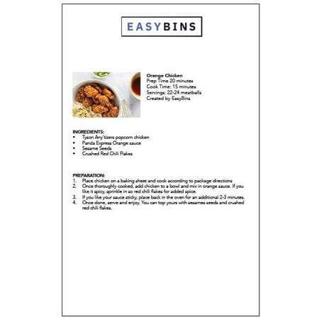 21. Recipe Card - Orange Chicken