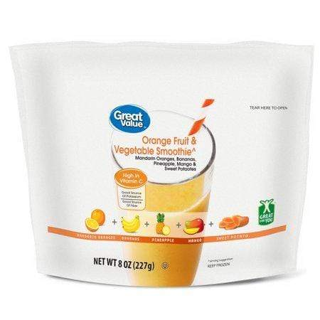 Great Value Orange Fruit & Vegetable Smoothie, 8 oz